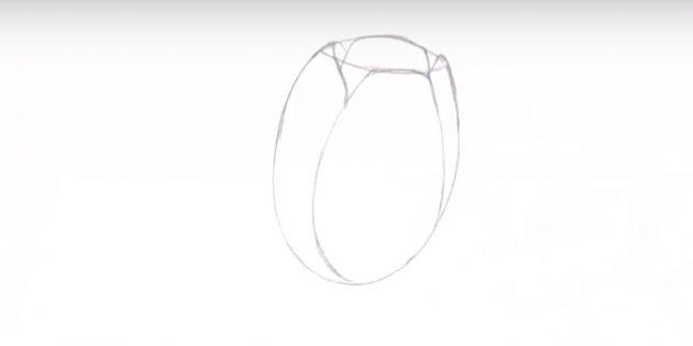 Как нарисовать тюльпан: наметьте остальные лепестки