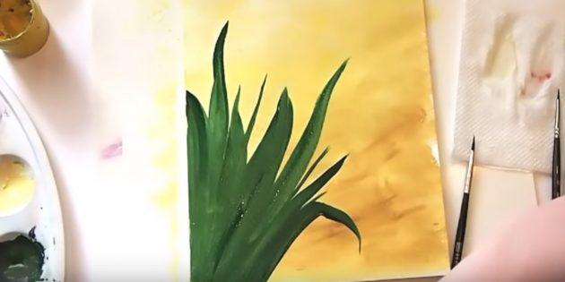 Изобразите верхние листья