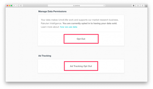 Unroll очистит электронную почту от всего спама