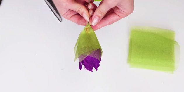 Букет из конфет своими руками: оформите чашелистики