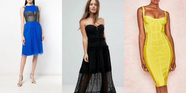 Модные платья — 2020: платья с корсетом