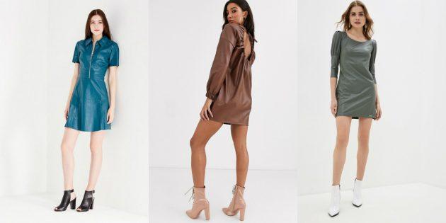 Модные платья весны-лета 2020: платья из мягкой искусственной кожи