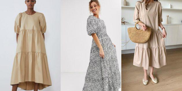 Женская мода весны и лета — 2020: многоярусность платьев