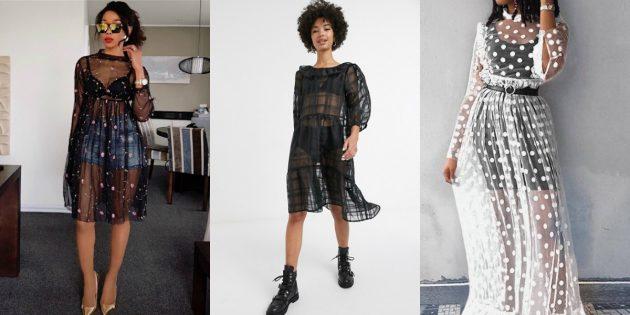 Модные платья лета-2020: прозрачные платья