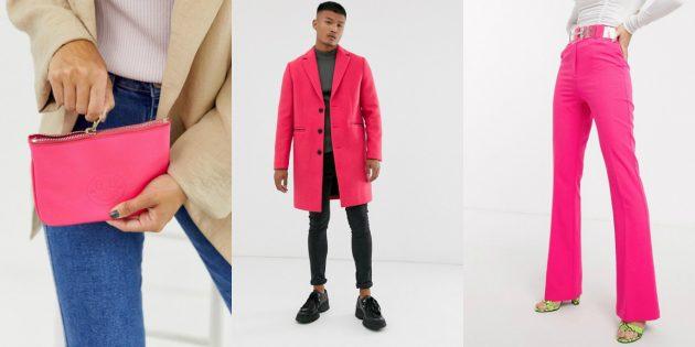 Коралловый розовый модный цвет весны-лета 2020года