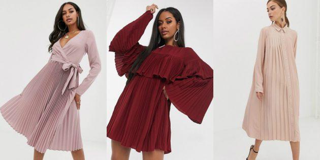 Модные платья — 2020: платья с плиссировкой