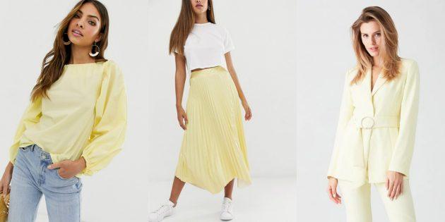 Женская мода — 2020: оттенок «солнечный свет»