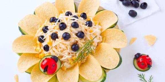 10 лучших рецептов салата «Подсолнух»
