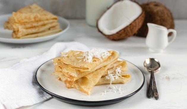 Блины из рисовой муки на кокосовом молоке