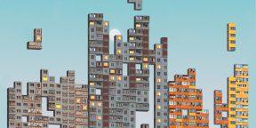 На смартфонах вышла игра PNLK — это тетрис из типовых панельных домов