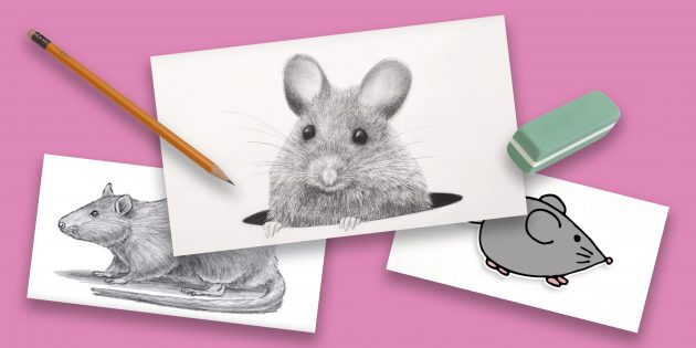 15 способов нарисовать мультяшную и реалистичную мышку15 способов нарисовать мультяшную и реалистичную мышку