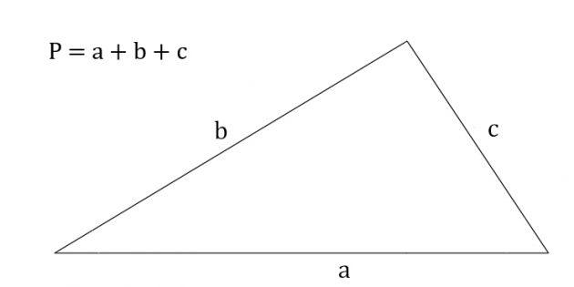 Как найти периметр треугольника, зная три стороны