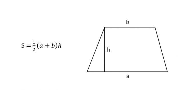 Как найти площадь трапеции через основания и высоту