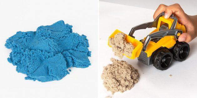 Подарки для мальчиков: кинетический песок для лепки