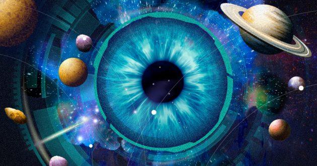 глаза словно космос