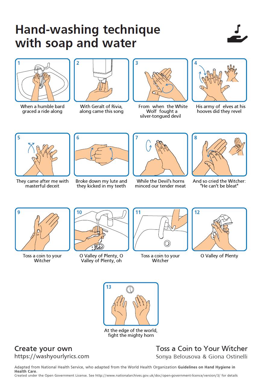Сайт дня: Wash Your Lyrics научит мыть руки под вашу музыку