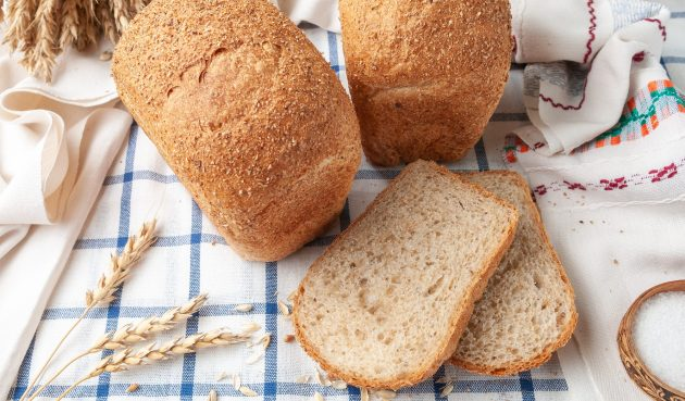Воздушный хлеб с отрубями в хлебопечке