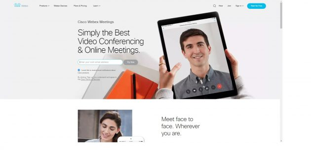 Бесплатные видеоконференции: Cisco Webex Meetings