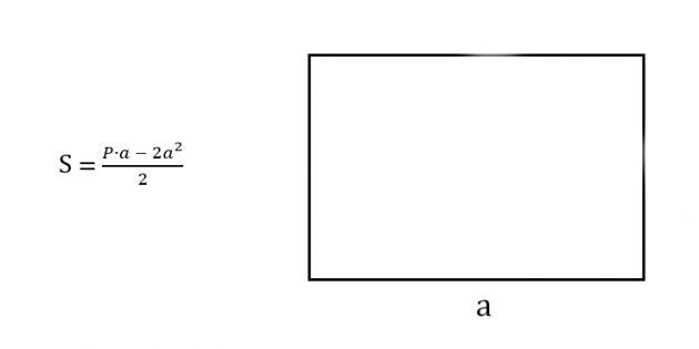 Как найти площадь прямоугольника, зная любую сторону и периметр