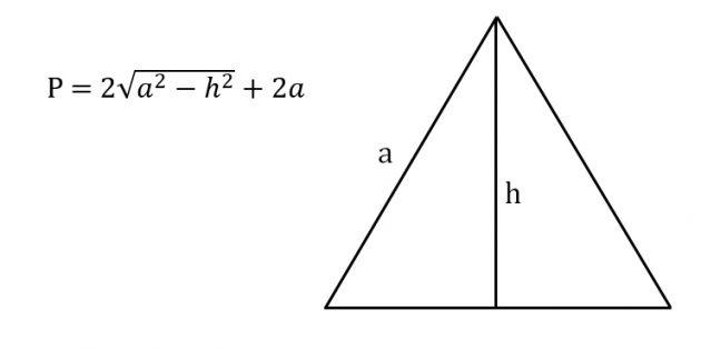 Как найти периметр равнобедренного треугольника, зная боковую сторону и высоту