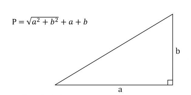 Как вычислить периметр прямоугольного треугольника, зная катеты