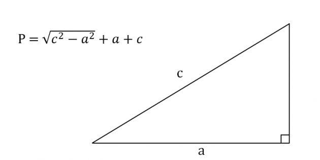 Как найти периметр прямоугольного треугольника, зная катет и гипотенузу
