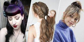8 очаровательных причёсок с чёлкой