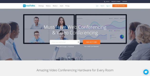 Бесплатные видеоконференции: ezTalks