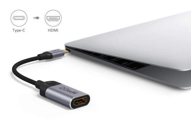 Как подключить второй монитор к компьютеру или ноутбуку: Пример переходника USB-C / HDMI от компании QGeeM