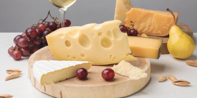 В каких продуктах много цинка: сыр