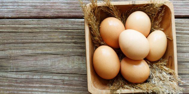 Продукты, содержащие йод: яйца