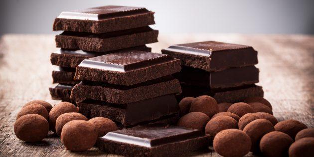 Продукты, богатые цинком: тёмный шоколад