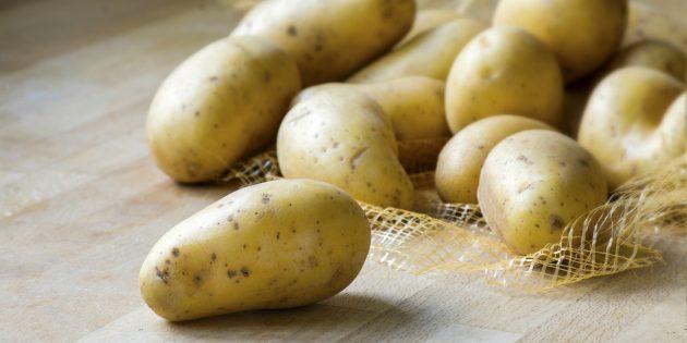 Продукты, содержащие йод: картофель