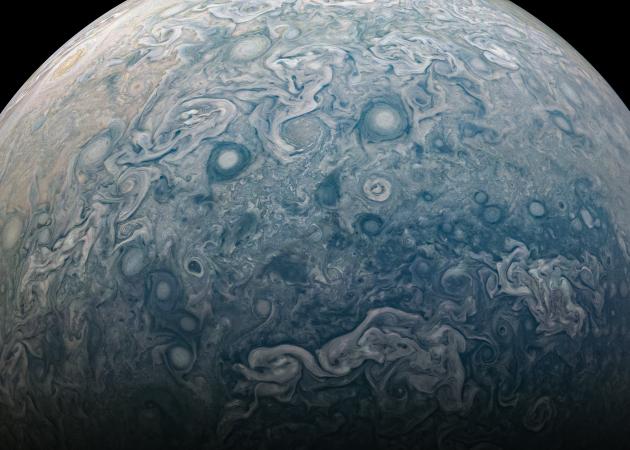 NASA опубликовало детальную фотографию Юпитера