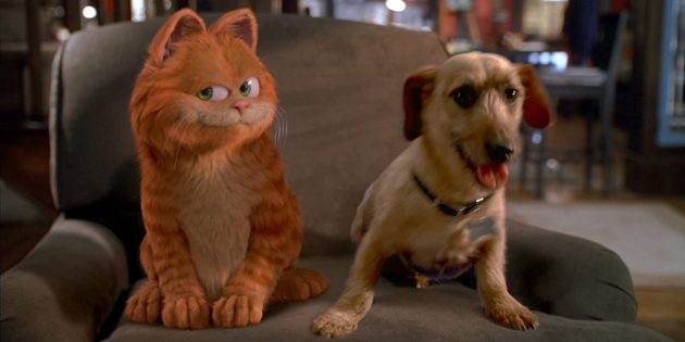 Фильмы про кошек: «Гарфилд»