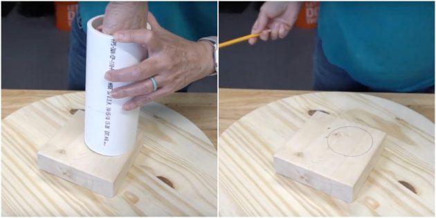 Как сделать когтеточку для кошки своими руками: обведите трубу