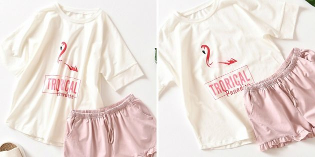 Пижама с фламинго