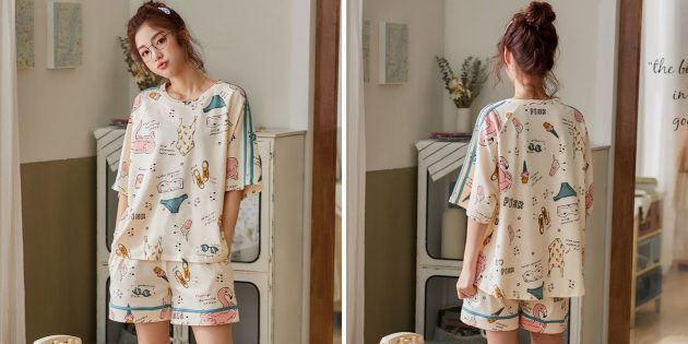 Пижама с лампасами