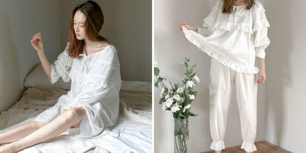 Пижама с оборками