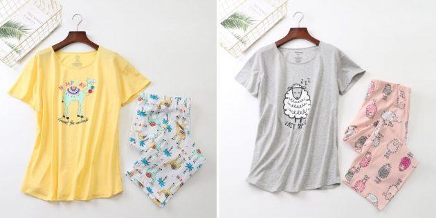 Пижама с футболкой и штанами