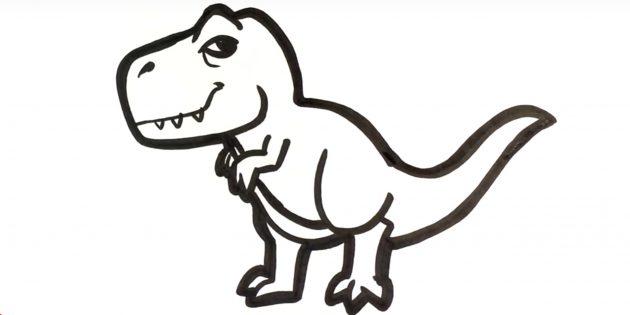 Как нарисовать тираннозавра