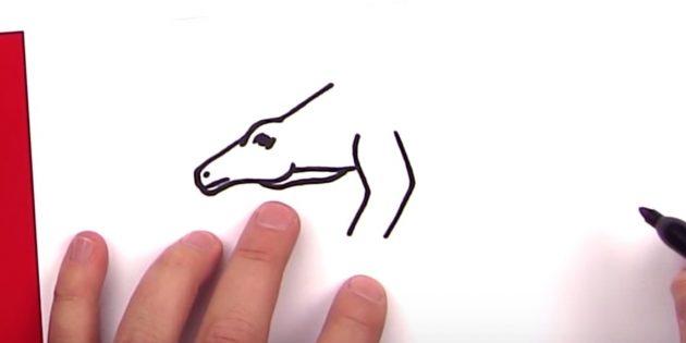 Как нарисовать стегозавра: добавьте часть лапы