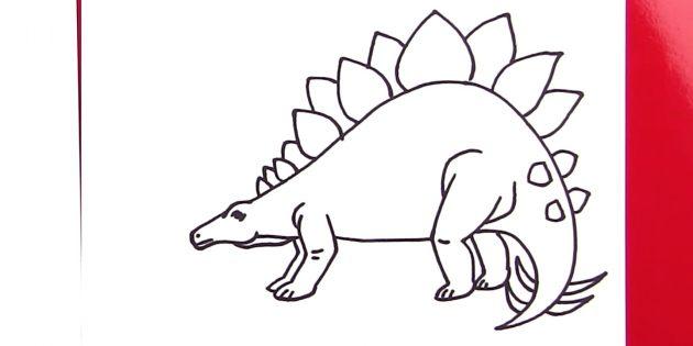 Как нарисовать стегозавра