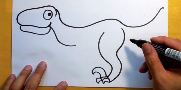 Как рисовать динозавра: нарисуйте когти