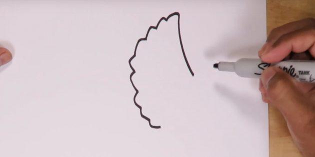 Как нарисовать трицератопса: начните рисовать голову