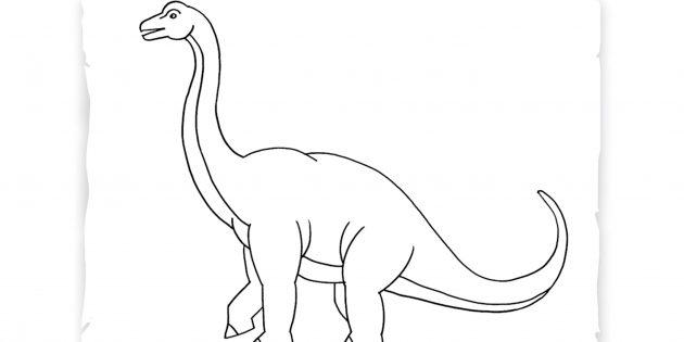 Как нарисовать брахиозавра