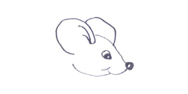 Как нарисовать крысу: изобразите ушки