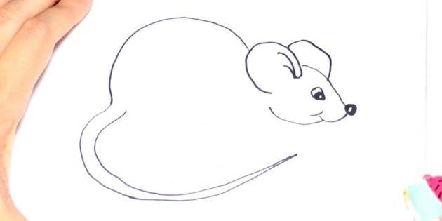 Как нарисовать крысу: добавьте хвост