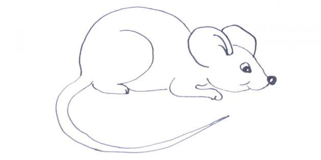 Как нарисовать мышку или крысу посложнее