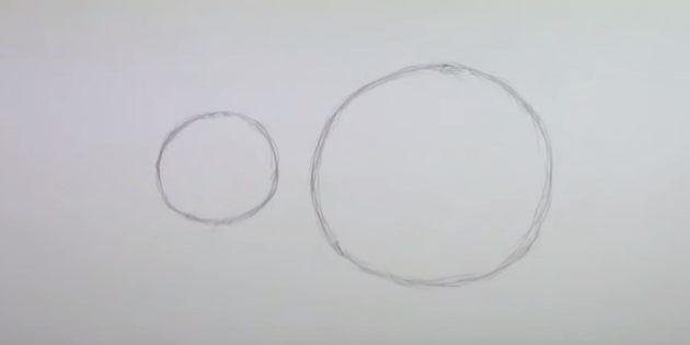 Как нарисовать мышь: сделайте набросок туловища и головы